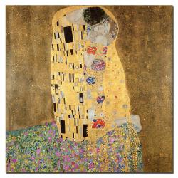 Gustav Klimt 'The Kiss 1907-8' Canvas Art