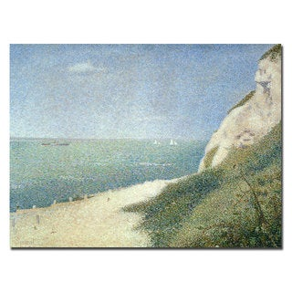Georges Seurat 'Beach at Bas Butin, Honfleur, 1886' Canvas Art