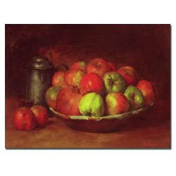 Gustave Courbet 'Still Life with Fruit 1871-72' Canvas Art