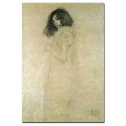 Gustav Klimt 'Portrait of a Young Woman, 1896-97' Canvas Art