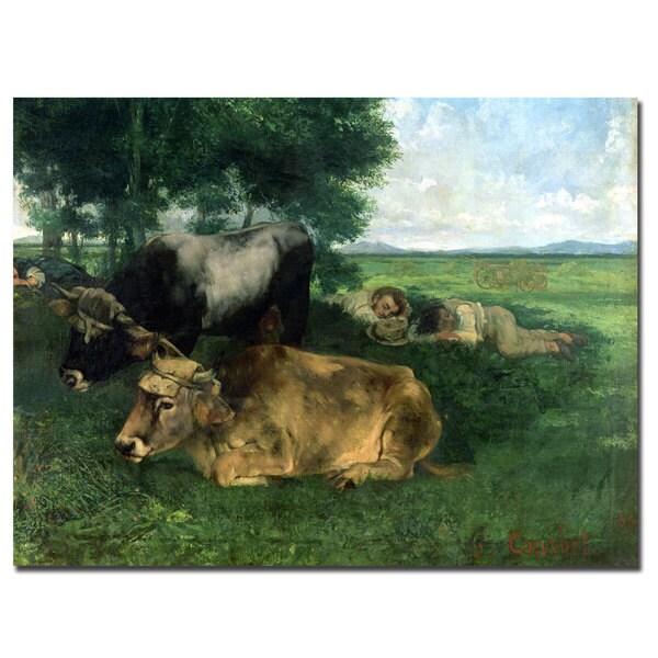 Gustave Courbet 'La Siesta' Canvas Art