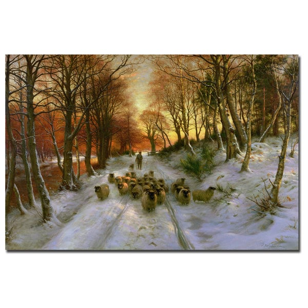 Joseph Faruqharson 'Glowing Tints of Evening Hours' Canvas Art