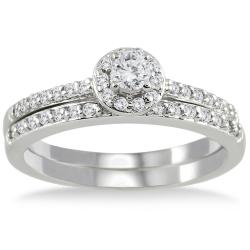 10k White Gold 1/2ct TDW White Diamond Bridal Ring Set (I-J, I1-I2)