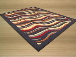 EORC Rubber Back Nylon Black Euro Home Rug (7'10 x 9'10)