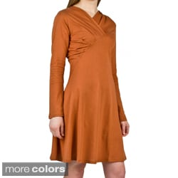 AtoZ Women's Scoop Pleated Dress