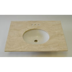 ICL Roman Travertine Vein Cut Polished Marble Vanity Top ( 31 x 22)