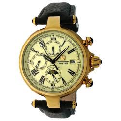 Steinhausen Men's 'Three Eyes' Automatic Gold/ Cream Watch