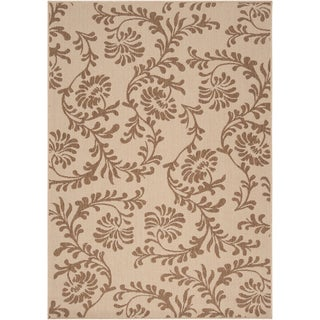 Londonderry Beige Floral Indoor/Outdoor Rug (3'6 x 5'6)