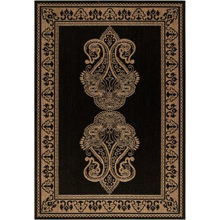 Sicily Beige Border Indoor/Outdoor Rug (6' x 9')