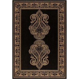 Piedmont Beige Border Indoor/Outdoor Rug (7'6 x 10'9)