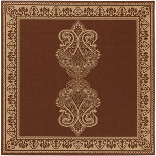Abruzzo Beige Border Indoor/Outdoor Rug (8'9 x 8'9)