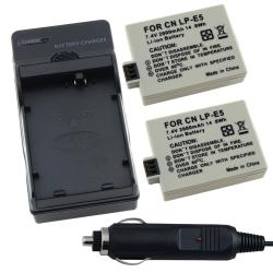 BasAcc Charger/ Batteries for Canon LP-E5 Rebel XS/ Xsi/ T1i