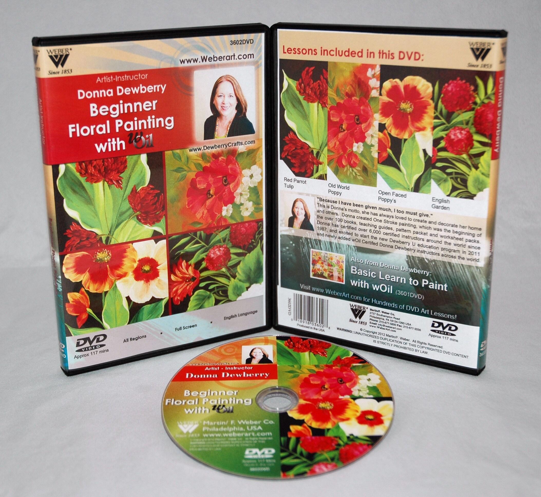 Weber Donna Dewberry Beginners Floral Painting wOil Set