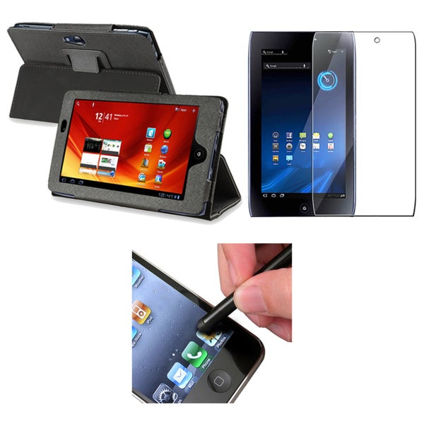 INSTEN Leather Phone Case Cover/ Screen Protector/ Stylus for Acer Iconia Tab A100