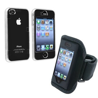 BasAcc Clear Crystal Case/ Armband for Apple iPhone 4/ 4S
