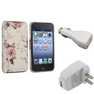 BasAcc White/ Pink Case/ Travel/ Car Charger for Apple� iPhone 3G/ 3GS