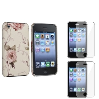 BasAcc White/ Pink Case/ Screen Protector for Apple� iPhone 3G/ 3GS