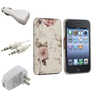 BasAcc White/ Pink Case/ Chargers/ Cable for Apple� iPhone 3G/ 3GS