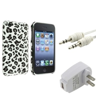 BasAcc Grey Leopard Case/ Charger/ Cable for Apple� iPhone 3G/ 3GS