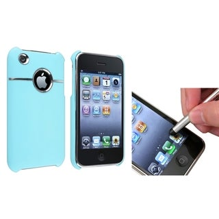BasAcc Baby Blue Case/ Silver Stylus for Apple® iPhone 3G/ 3GS