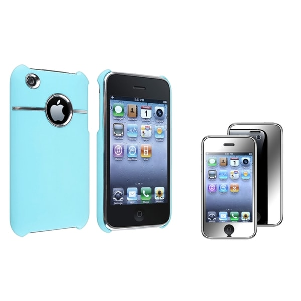 BasAcc Baby Blue Case/ Mirror Protector for Apple® iPhone 3G/ 3GS