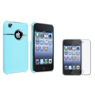 BasAcc Baby Blue Case/ Anti-glare Protector for Apple� iPhone 3G/ 3GS