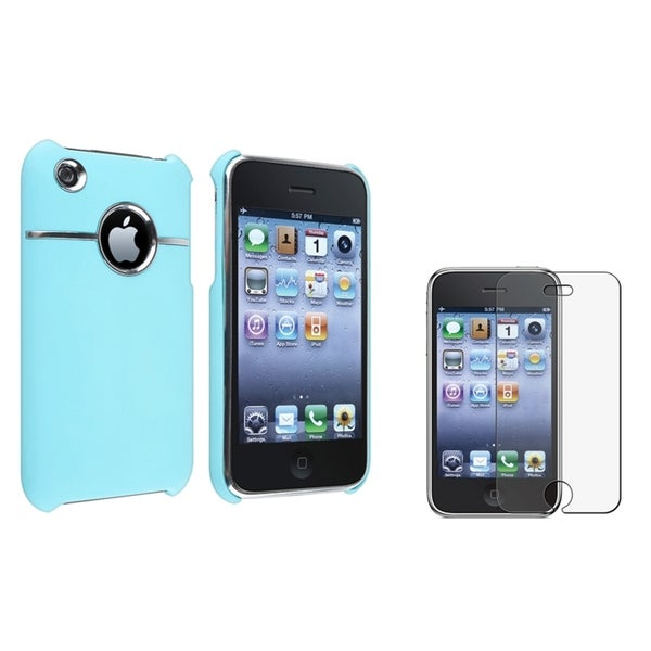 BasAcc Baby Blue Case/ Anti-glare Protector for Apple® iPhone 3G/ 3GS