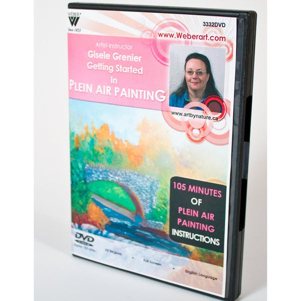 Weber Art Gisele Grenier Getting Started in Plein Air Painting Instructional DVD