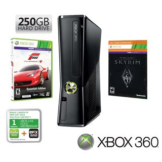Xbox 360 - Holiday Bundle w/Skyrim & Forza 4 250 GB Hard Drive