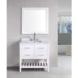 Fine Fixtures Glenwood 17 Inch Wood Wenge/ White Bathroom Vanity