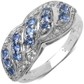 Malaika Sterling Silver 1/2 ct TGW Tanzanite Ring