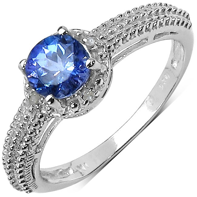 Malaika Sterling Silver Tanzanite and Diamond Ring