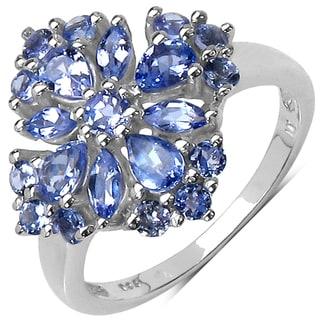 Malaika Sterling Silver 1 1/3ct TGW Tanzanite Ring
