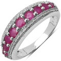 Malaika Sterling Silver 9/10ct TGW Ruby Ring
