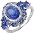 Malaika Sterling Silver Bezel-set Tanzanite Ring