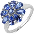 Malaika Sterling Silver Tanzanite and White Topaz Ring