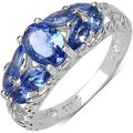 Malaika Sterling Silver Marquise-cut Tanzanite Ring