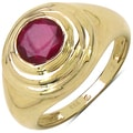 Malaika Yellow Gold overlay Sterling Silver Ruby Ring