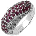 Malaika Sterling Silver Red-and-white Ruby Ring