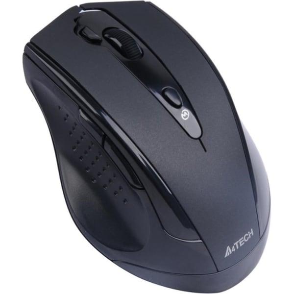 A4Tech 7 Buttons USB Wireless Optical Mouse Black Via Ergoguys