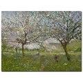 Ernest Quost 'Apple Trees in Flower' Canvas Art