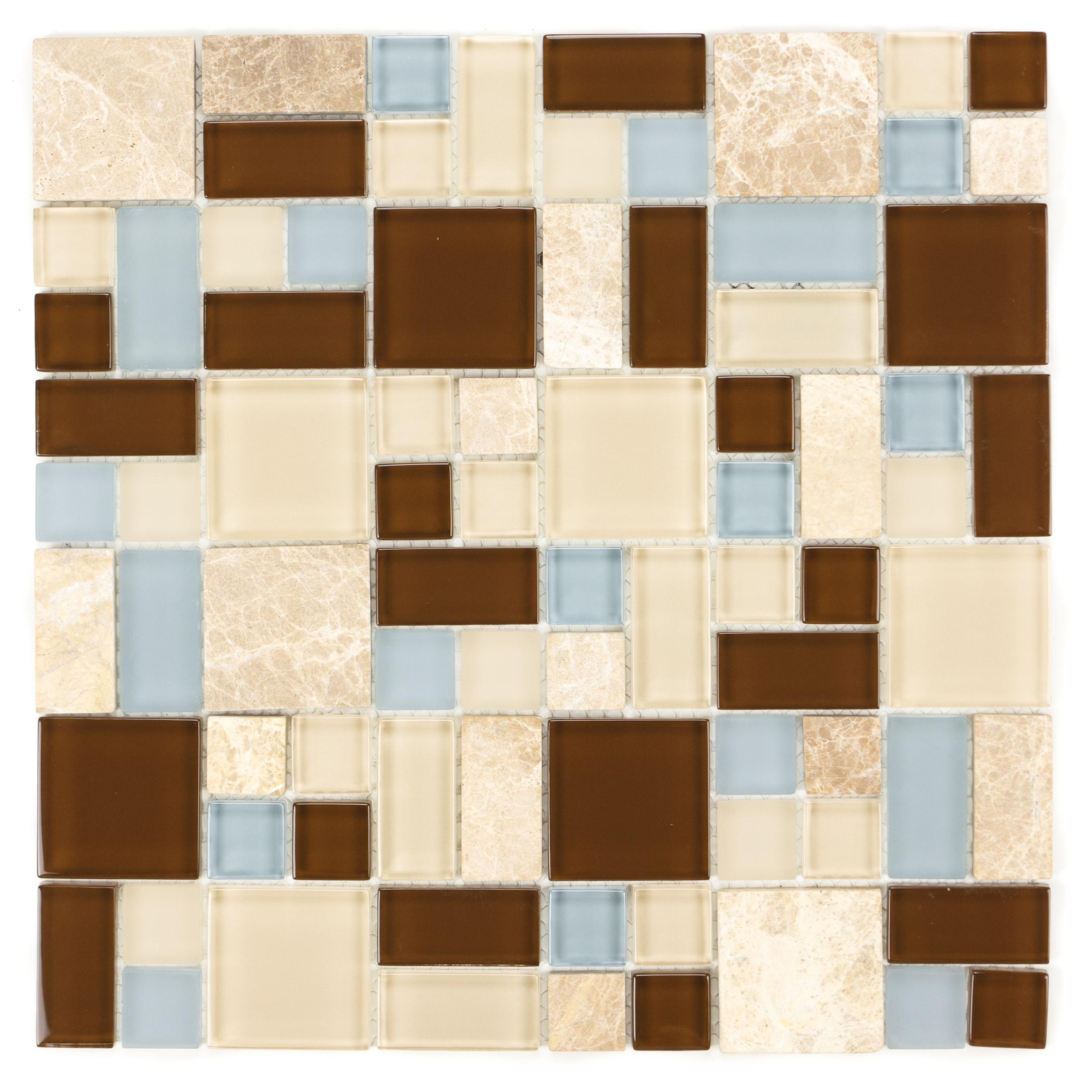 Random Marble Mix ICL H-2115 Mosaic Sheets (Set of 11)