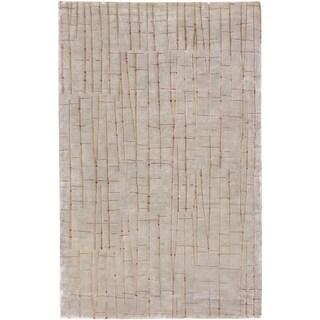 Julie Cohn Hand-knotted Chvelelon Spanish Moss Abstract Design Wool Rug (9' x 13')
