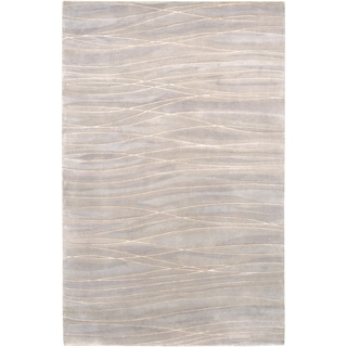 Julie Cohn Hand-knotted Cluffranch Grey Abstract Design Wool Rug (8' x 11')