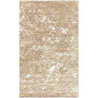 Julie Cohn Hand-knotted Concho Tan Abstract Design Wool Rug (4' x 6')