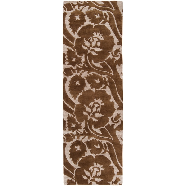 Hand-tufted Alamo Teak New Zealand Wool Rug (2'6 x 8')