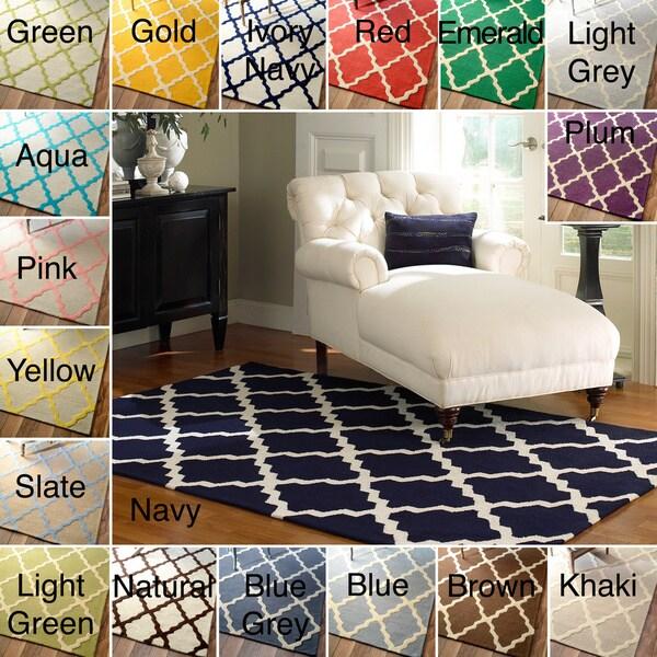 nuLOOM Hand-Hooked Alexa Moroccan Trellis Wool Rug (6' x 9')