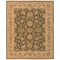 Hand-knotted Goldwater Brown New Zealand Wool Rug (4' x 6')