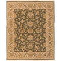 Hand-knotted Havasu Olive New Zealand Wool Rug (6' x 9')