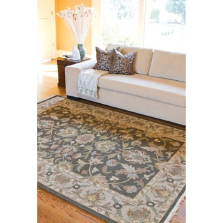 Hand-knotted Havasu Brown New Zealand Wool Rug (6' x 9')